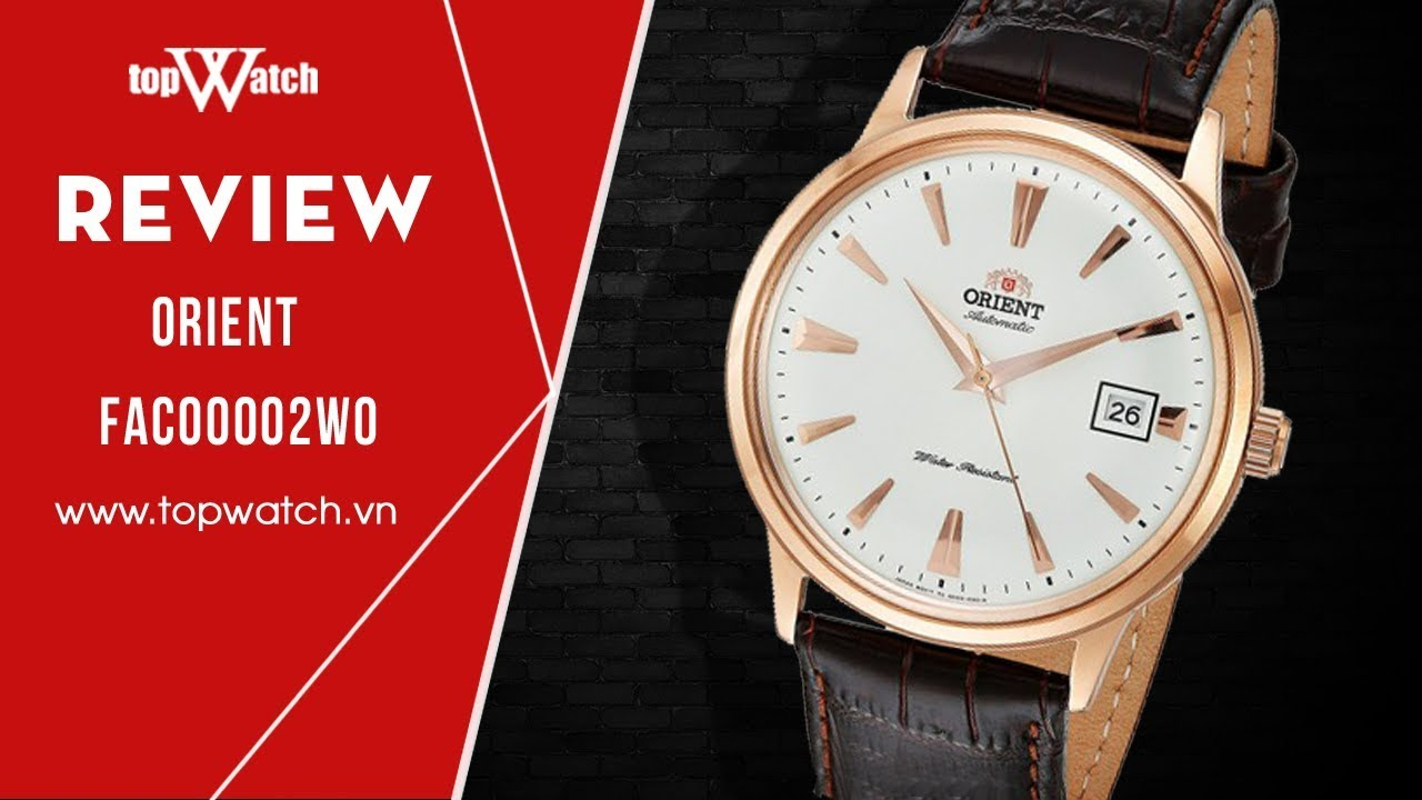 [REVIEW] - Đồng hồ cơ Orient bambino FAC00002W0